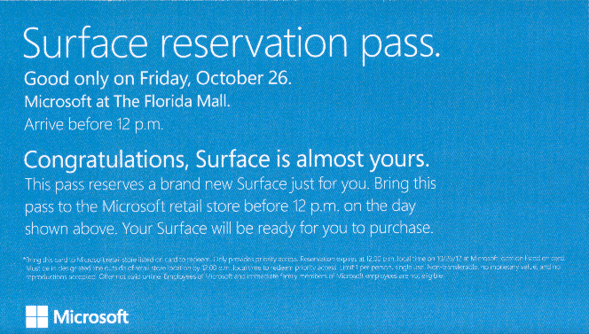 Surface RT Reservation Back