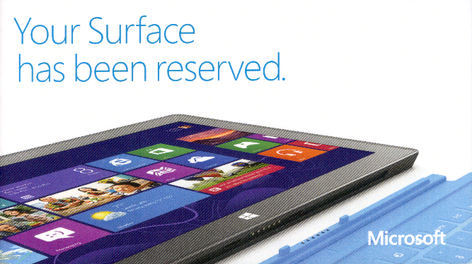 Surface RT Reservation Front